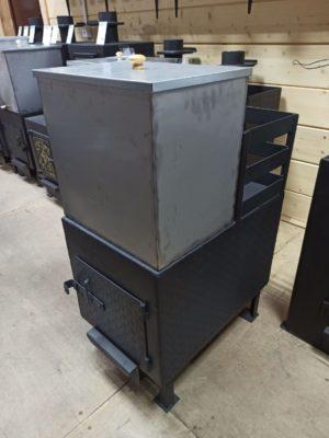 Комплект: печь с открытой каменкой + бак 48 литров
