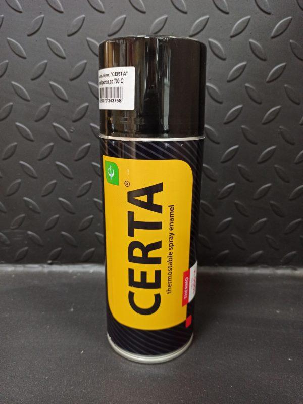"""Термостойкая краска """"Certa"""" серебристая (спрей), 0.27 кг"""