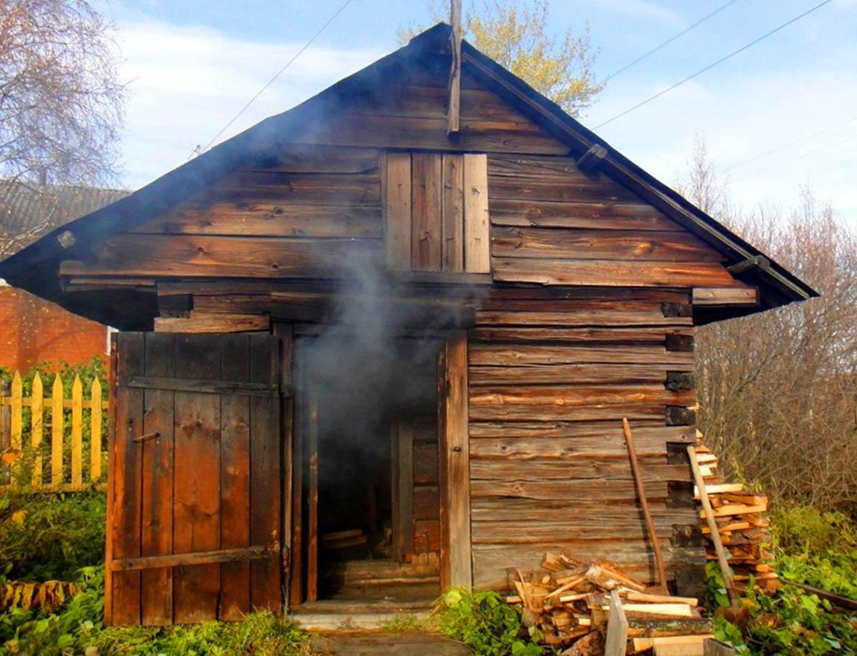Баня по черному или как топили баню на Руси.