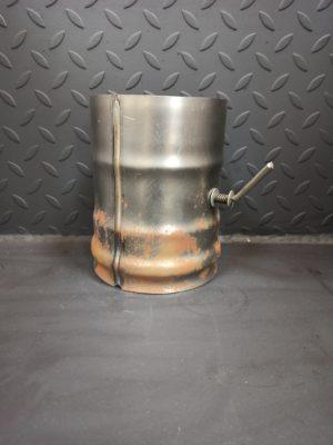 Шибер-заслонка поворотная из черной стали СТ-3