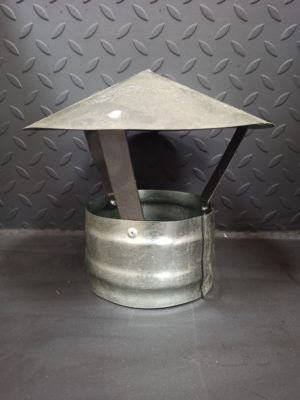 Зонт для одностенного дымохода из оцинкованного металла