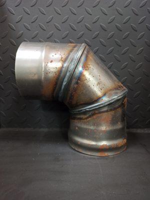 Колено одностенное 90° из черной стали СТ-3