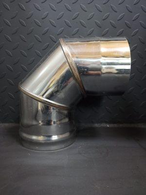 Колено одностенное 90° из нержавеющей стали  <br>AISI 430