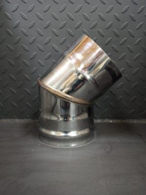 Колено одностенное 45° из нержавеющей стали  <br>AISI 430