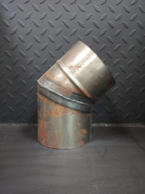 Колено одностенное 45° из черной стали СТ-3