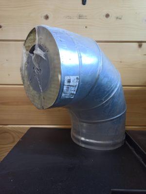 Сэндвич-колено 90°, <br>(нерж. AISI 430 1 мм/нерж. AISI 430 0,5 мм)