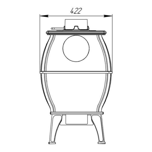 Печь-камин отопительно-варочная Бахта схема